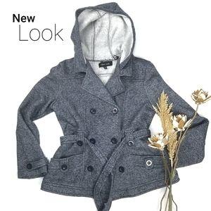 ❣ New Look ❣ Soft Thick Blue Cotton Blend Coat M